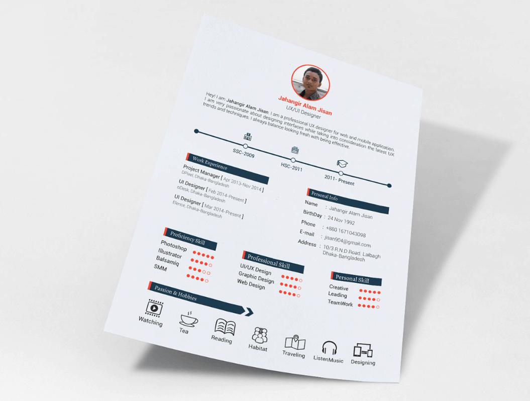 FREE Resume Template (3 page) by Jahangir Alam Jisan
