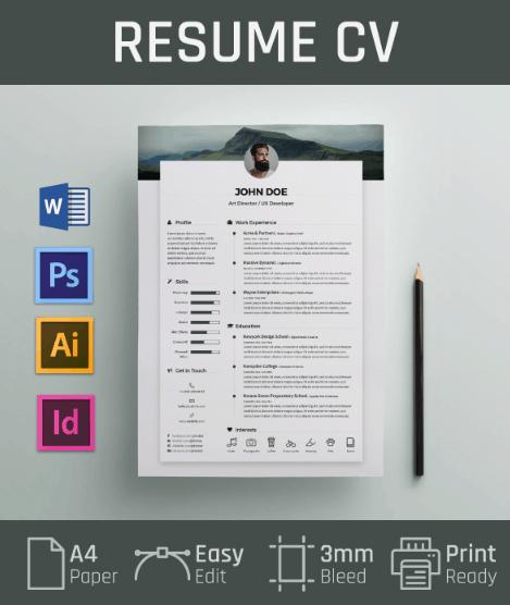 Free Resume / CV Template by fatih koç