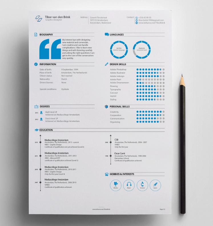 Creative example cv