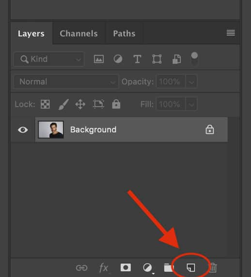 Duplicate background layer in Photoshop