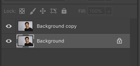 duplicated layer in Photoshop cc 2019