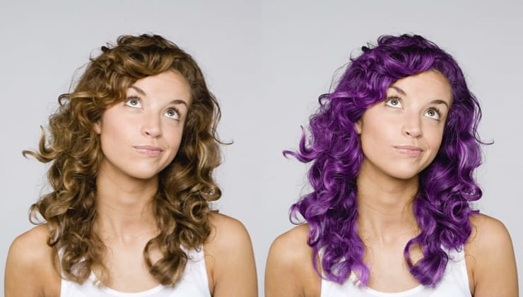changing hair color using photoshop