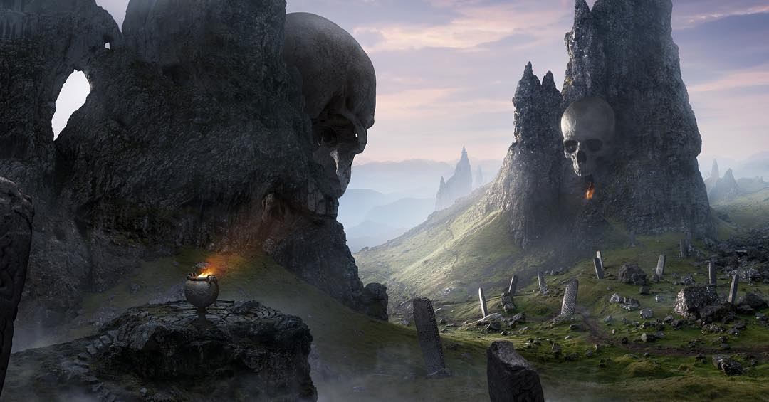 Apocalypse scene matte painting