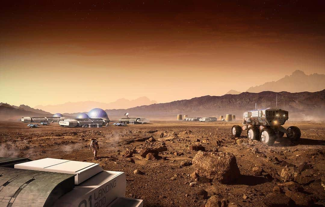Mars Matte Painting by Carles Marsal