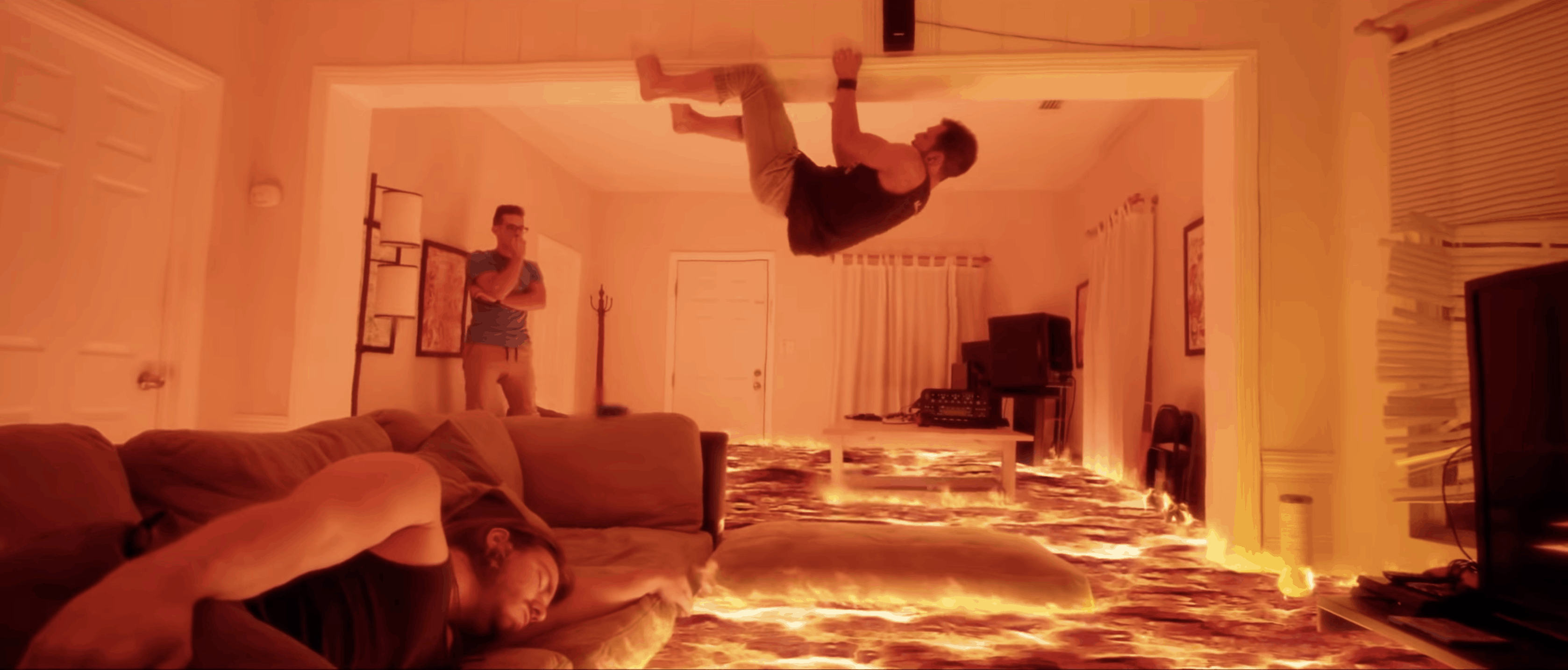 Floor is Lava video in real VFX effect