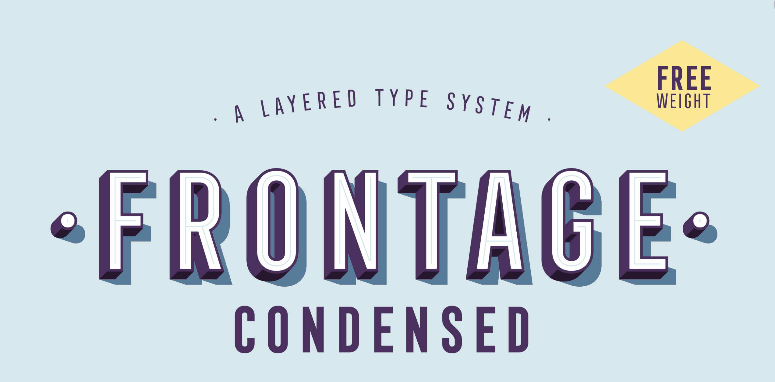 frontage condensed typeface free font