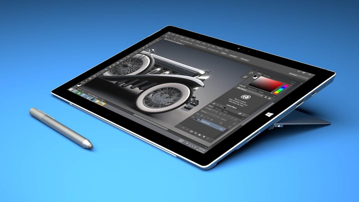 Tablet for with Photoshop and a stylus