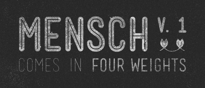 Mensch Free Vintage Font
