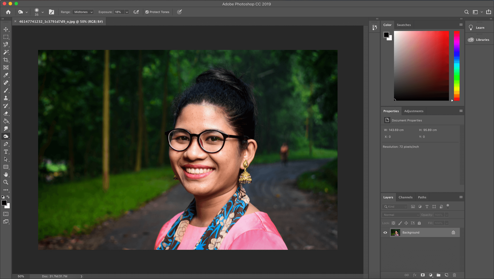 Duplicate the background layer