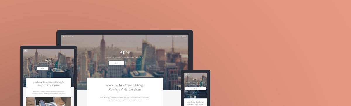 Alpha html5 free template to download