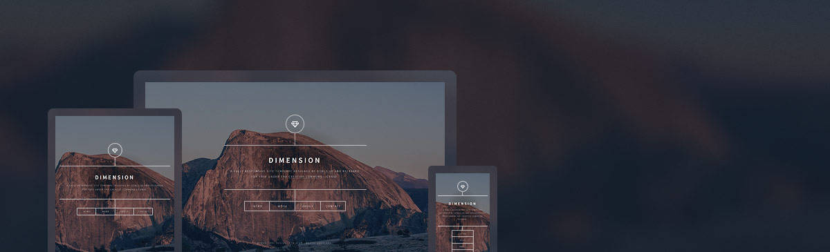 dimension html5 free template to download