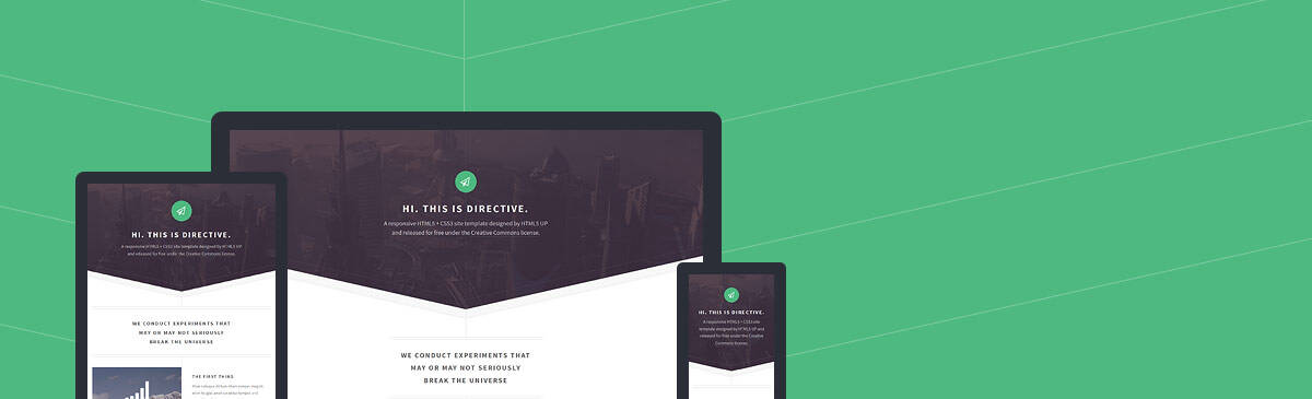Directive html5 free template to download