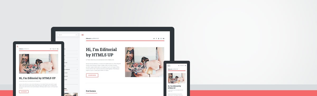 Editorial html5 free template to download