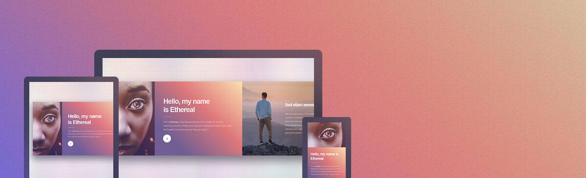 Ethereal html5 free template to download