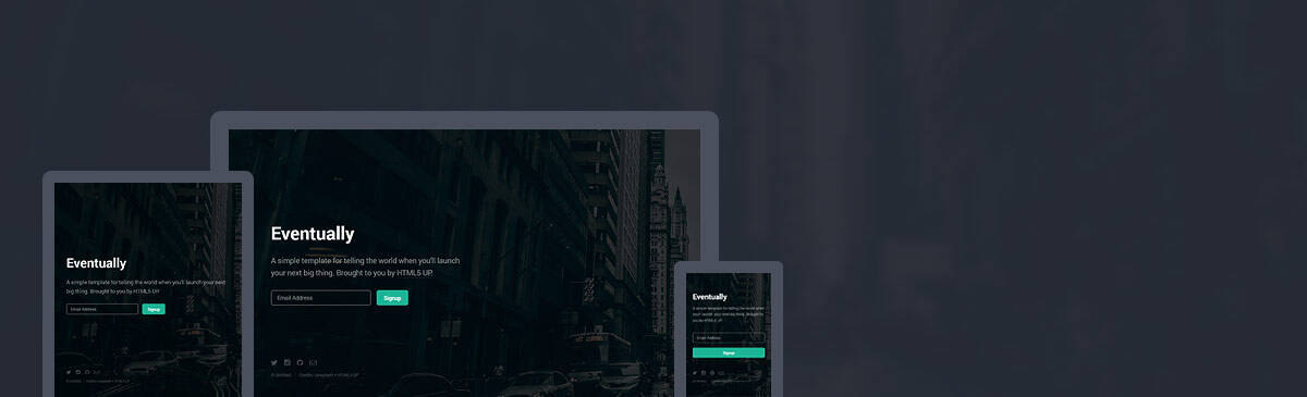 Eventually html5 free template to download