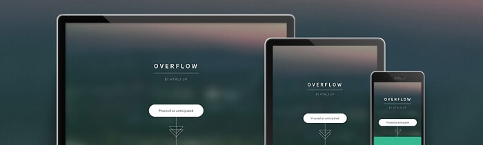 Overflow Free Html5 template