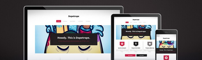 Dopetrope free HTML5 template