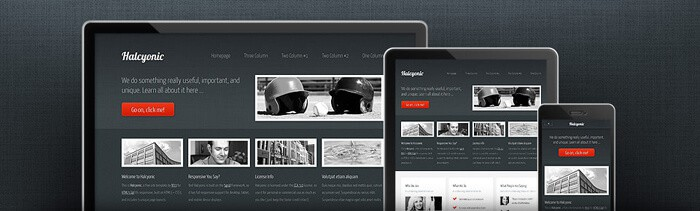 Halcyonic free html5 template