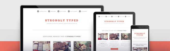 Strongly Typed free html5 template