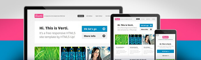Verti free html5 template to download