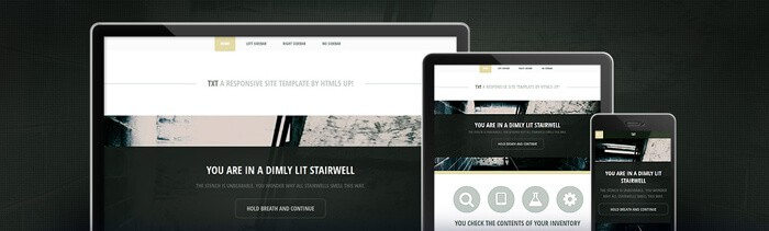 Txt free html5 template to download