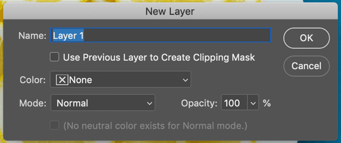 new layer panel photoshop