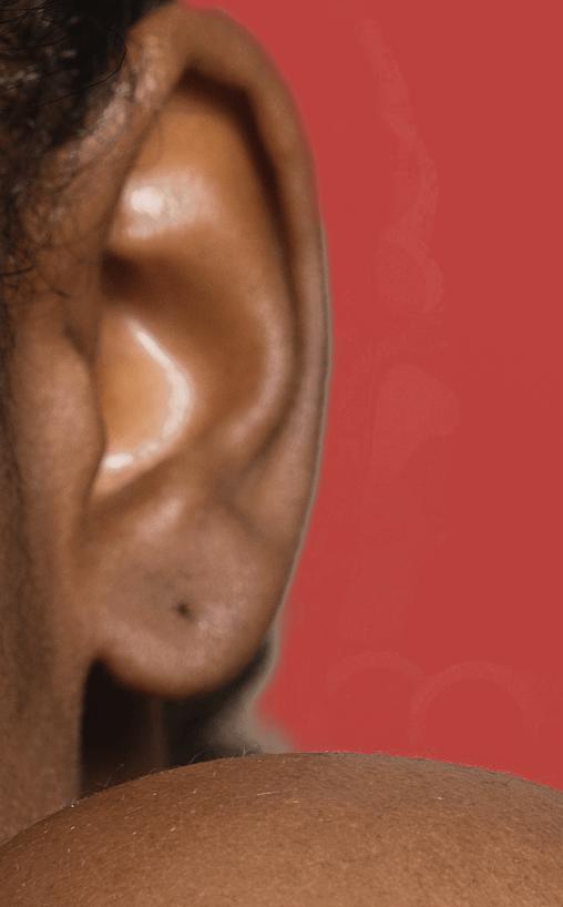 zoom on ears portrait