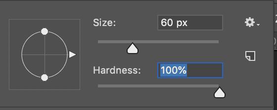 brush hardness 100% photoshop