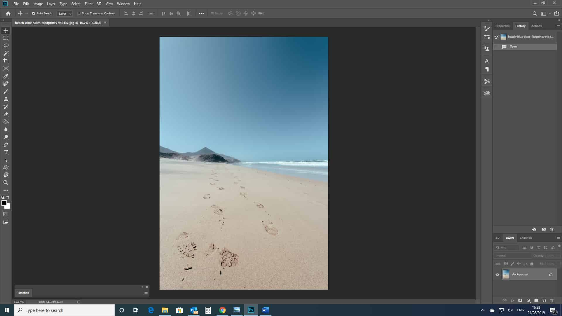 open an image photoshop