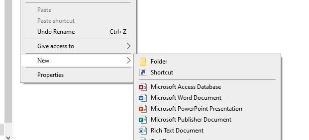 File new file window