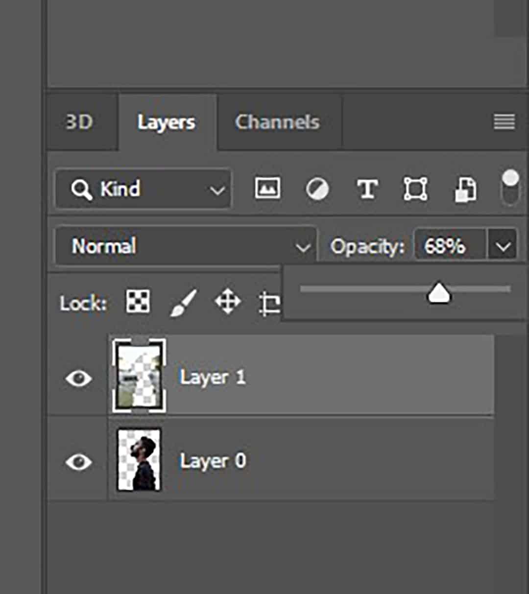 layer opacity photoshop
