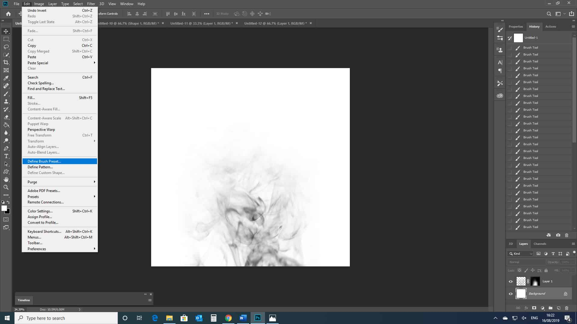 smoke brush used in photoshop