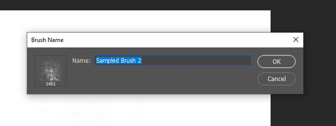 name new brush photoshop