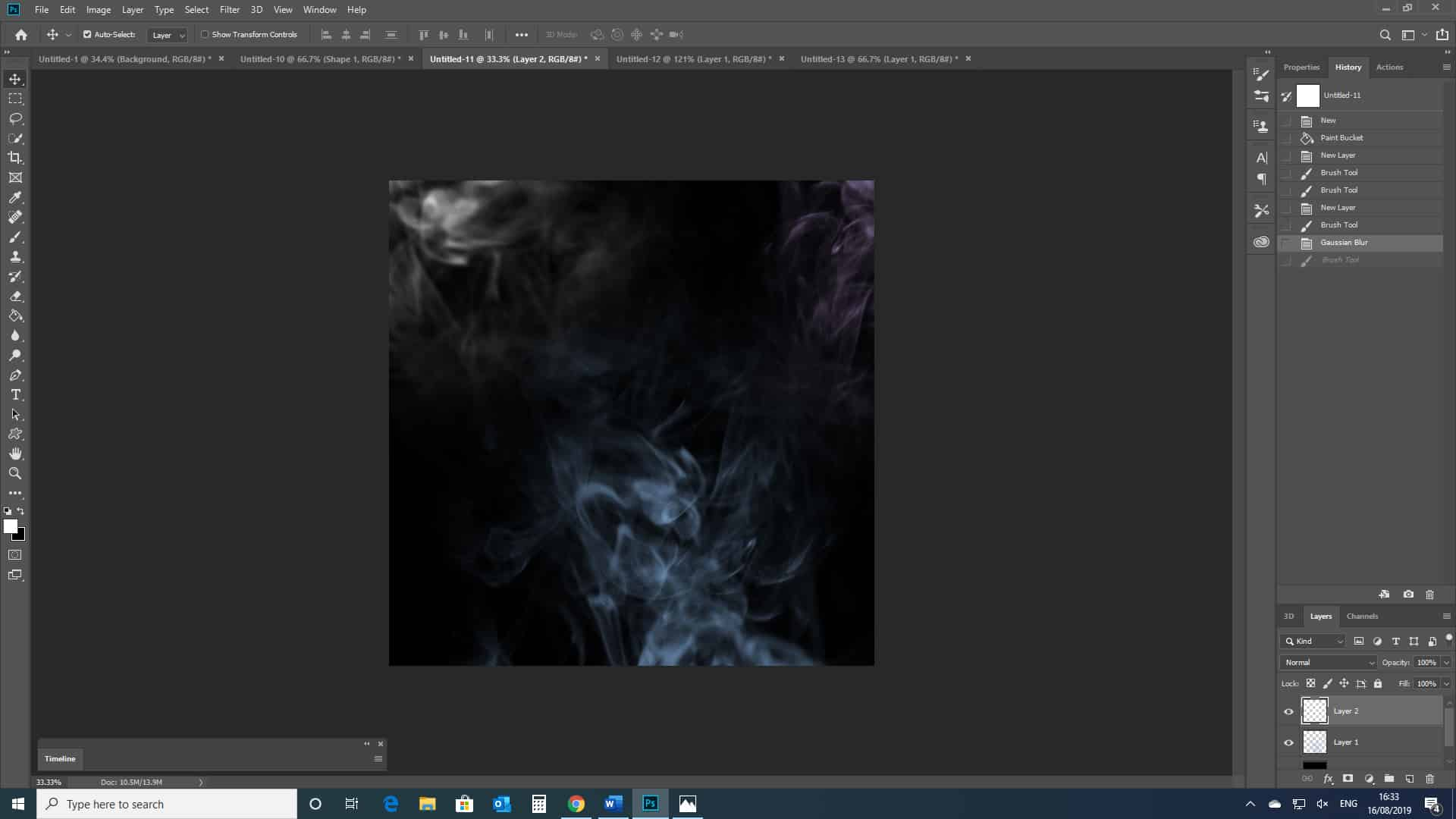 blue smoke photoshop