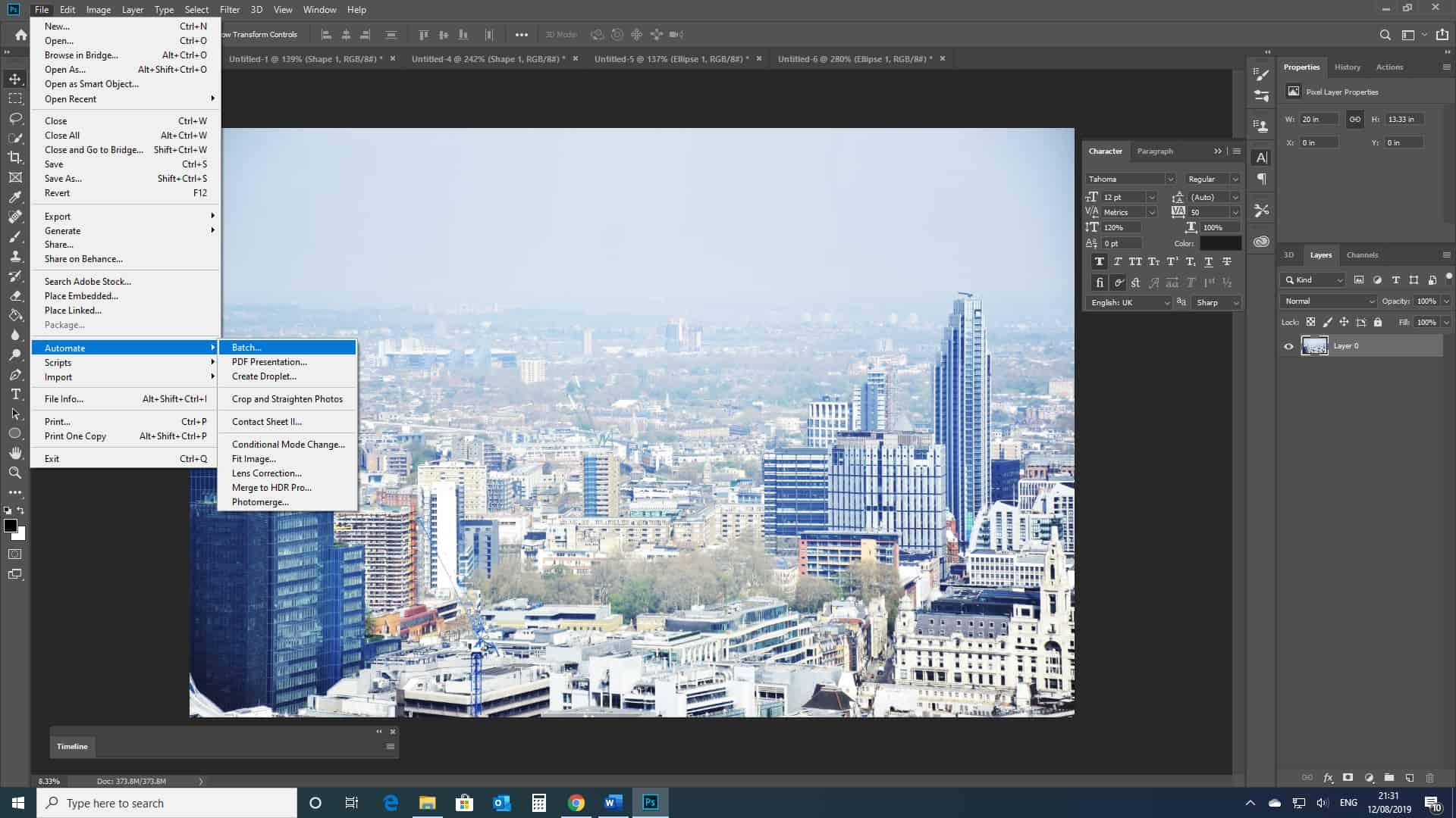 automation batch photoshop