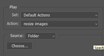 batch option panel photoshop