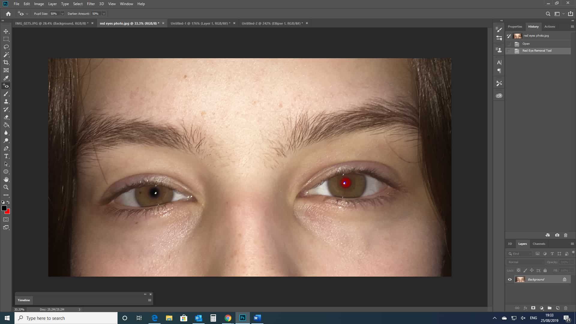 red-eye removing photoshop