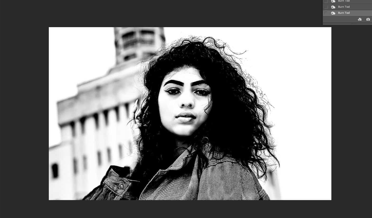 black and white portrait photoshop
