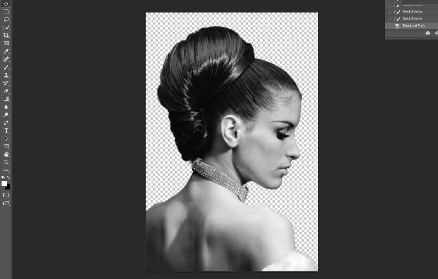 black and white woman portrait photoshop