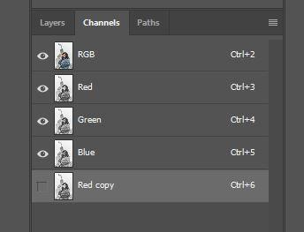 Channels window photoshop