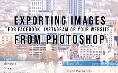 Learn how to export photos for Facebook, Instagram and your website