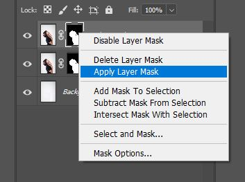 apply layer mask photoshop