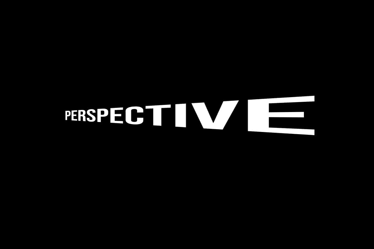 perspective warped white text