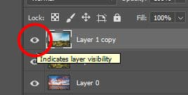 disable a layer photoshop