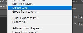 delete layer photoshop