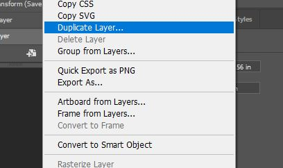 duplicate layer photoshop