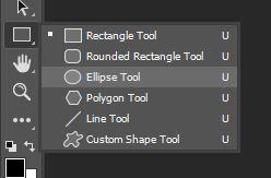 shape tool ellipse photoshop