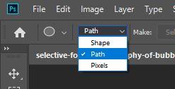path shape tool photoshop