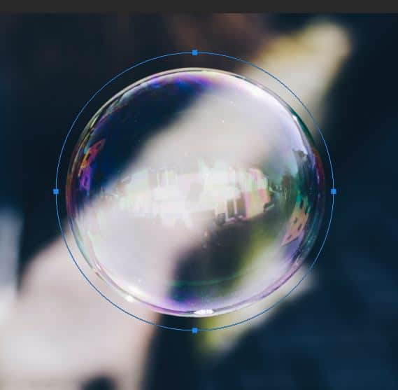 bubble picture with ellipse path in photoshop