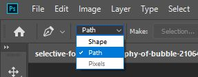 path option for pen tool photoshop